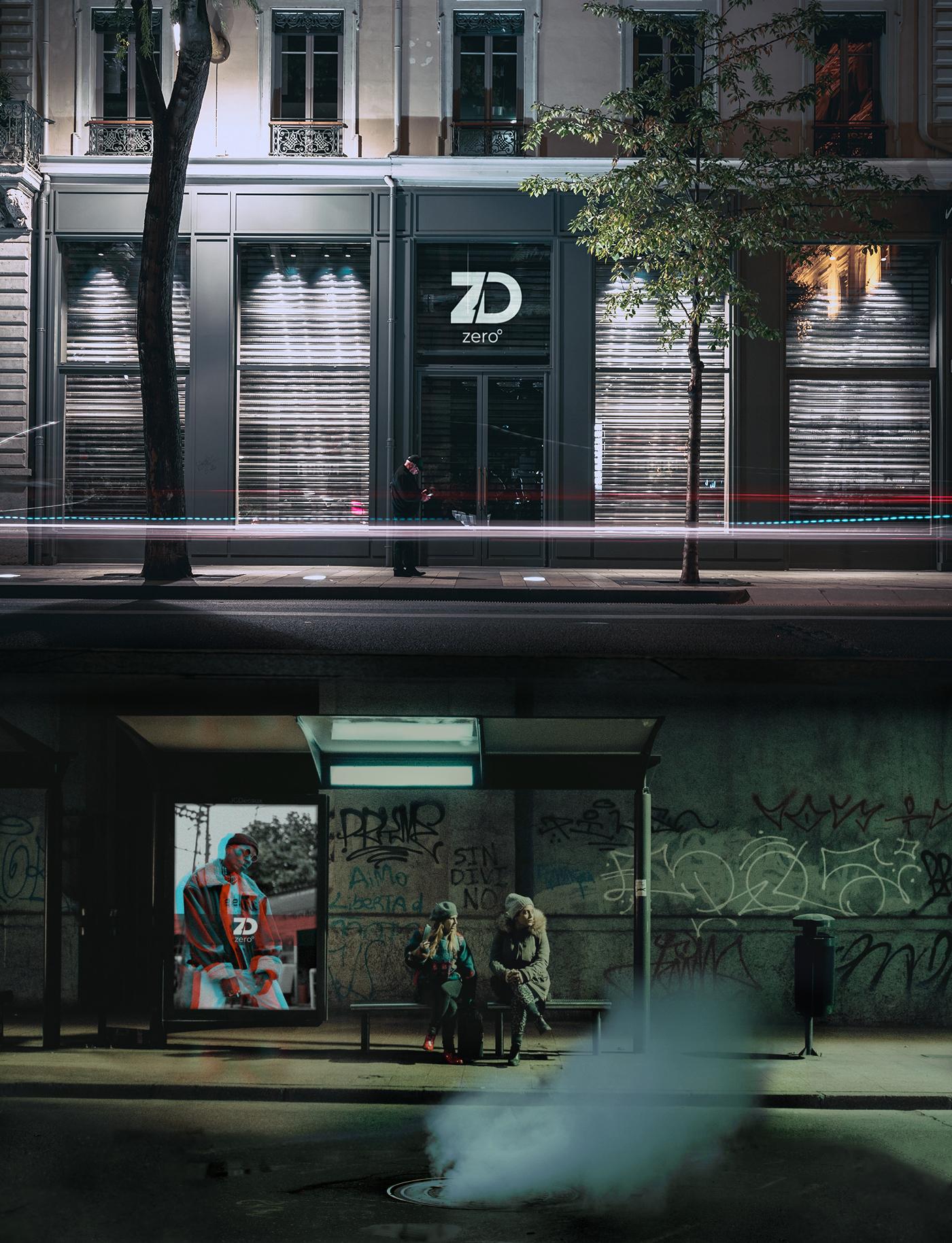 ZDC Initial Logo / Brand Mockup