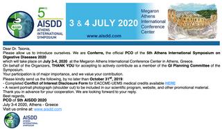 Invitation Letter- 5th AISDD 2020
