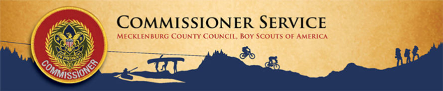 Boy Scouts Commissioners Service Banner