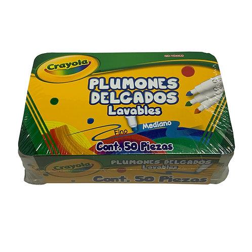 Plumones Delgados Lavables