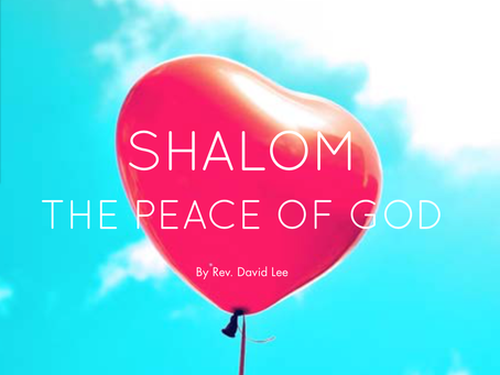 Shalom The Peace of God
