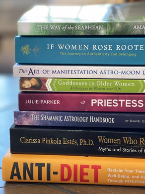 My current book stack & a revelation about my brain