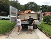 AJR Action Junk Removal Truck   removing and hauling a Mattress
