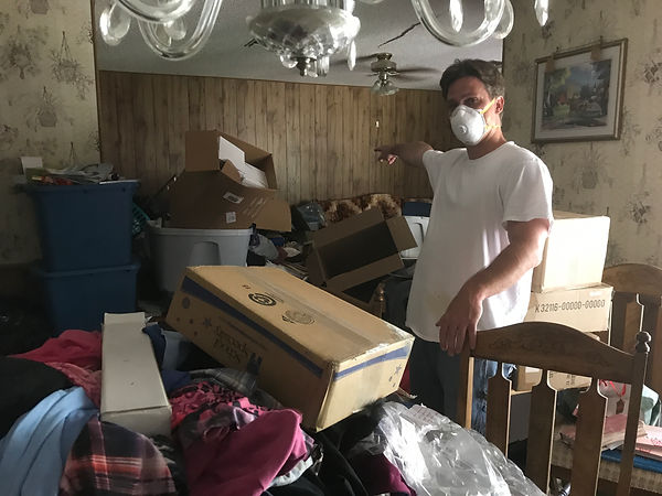 AJR Action Junk Removal removes debris from Hoarder cleanout inTampa + House Cleanout south Tampa