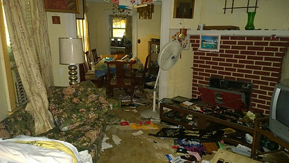 Action junk removal cleans out Hoarder two bedroom house