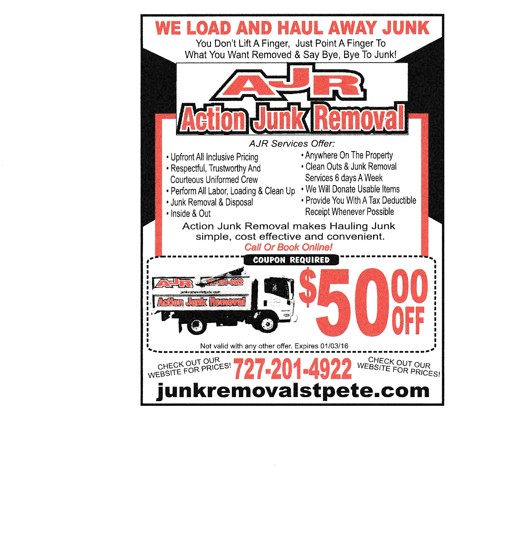 Action Junk Removal | junk removal St. Petersburg | 727-201-4922 Save