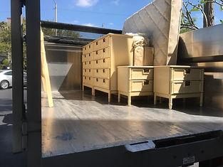estate hauling,AJR truck hauling furniturefrom an estate cleanout