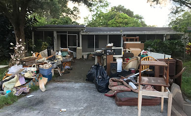 Action Junk Removal Removing old fence in Pinellas County Florida