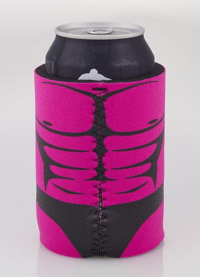 MANKINI CAN STUBBY COOLER WITH BASE