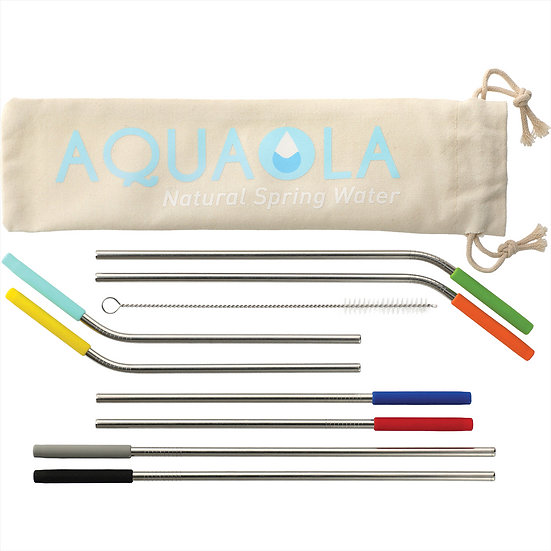 REUSABLE STAINLESS STRAW 10 IN ONE SET