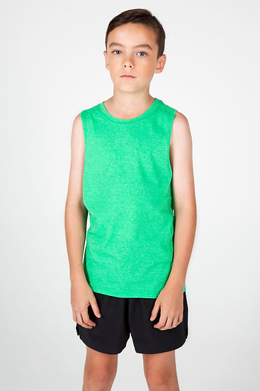 KIDS GREATNESS HEATHER SLEEVELESS TEE - T403LD