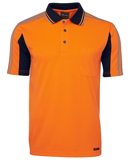 HI VIS S/S ARM TAPE POLO 6AT4S