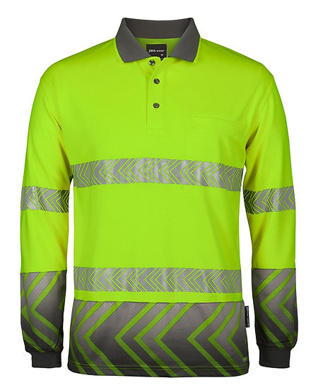 HI VIS L/S ARROW SUB POLO WITH SEGMENTED TAPE 6HAL