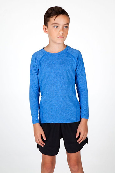 KIDS GREATNESS HEATHER LONG SLEEVE TEE - T224KS