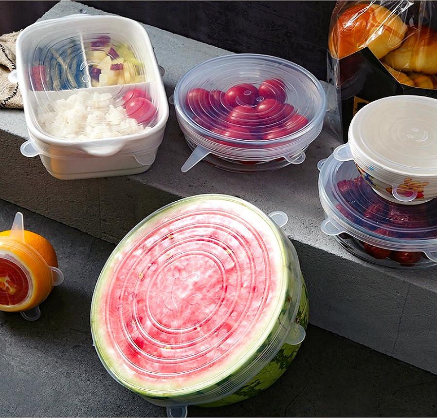 Conserva tus alimentos de forma sostenible. Tapas adaptables.