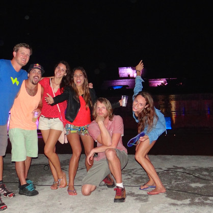Maya nightshow part of the crew