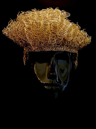 Golden Asymmetrical High Top Fade / Blockhead by Atelier MAUKE V