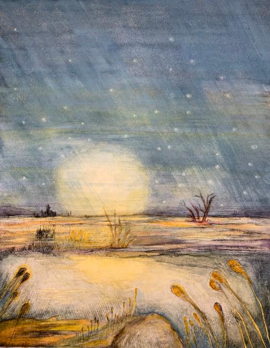 """Moonrise, over Slough"""