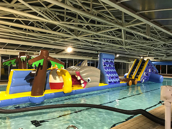Inflatable Fun at the Waterside Pool