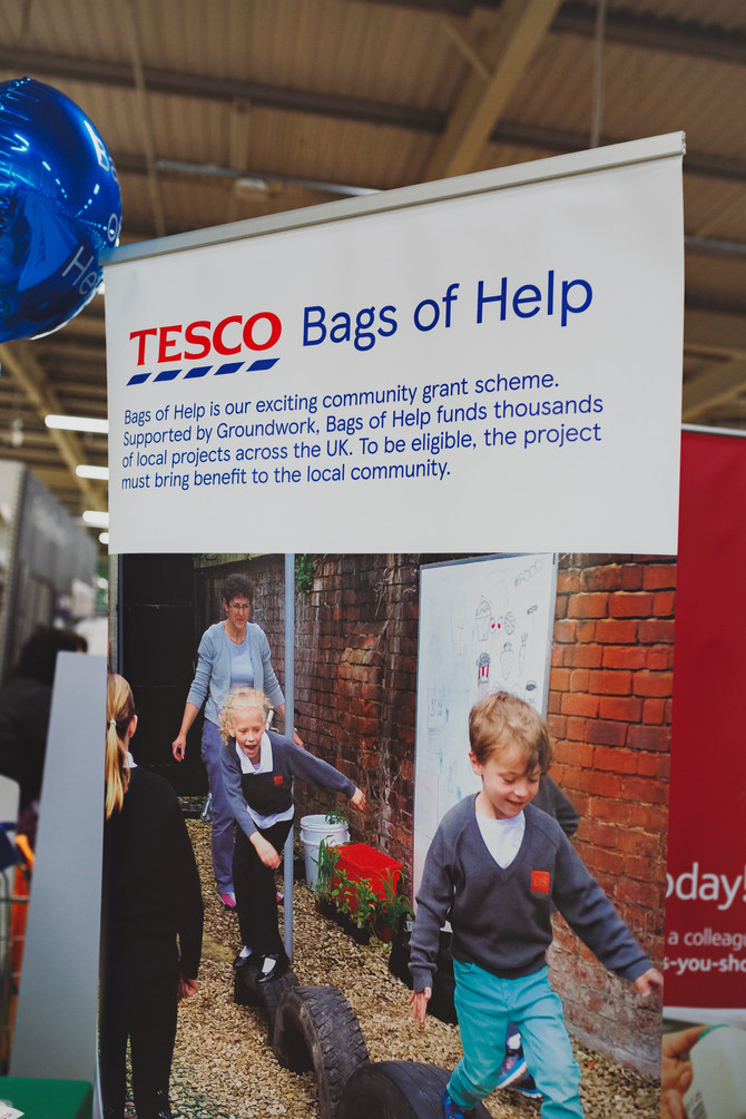The Waterside Community Trust celebrated with Tesco Bags of Help as one of the 10,000 projects the g