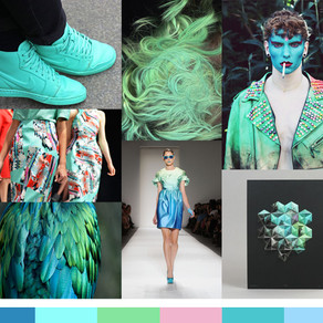 Trend Forecasting prints, colors, and direction example.