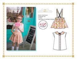 Girls Suspender skirt & Blouse