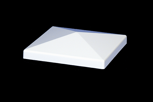 "5""x 5"" Flat Vinyl Post Cap - White - 1011W"