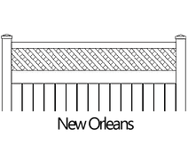 Vinyl PVC Privacy Fence Topper Accent New Orleans Traditional Lattice