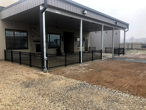 Wolf Brewing Co. - Commercial Aluminum Fence