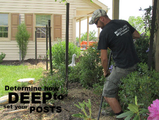 Determine How Deep to Set Fence Posts