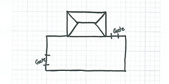 Basic Fence Layout Example for Yard with Graph Paper
