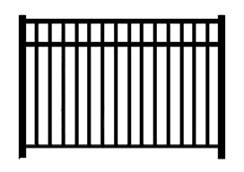 Aluminum Metal Iron Pool Fence Style Sketch