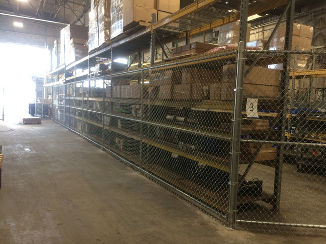 Interior Chain Link Security Fence