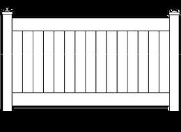 Vinyl PVC Privacy Fence Style