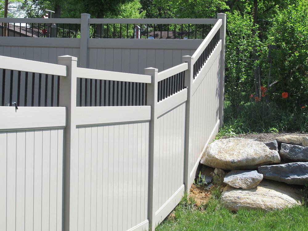 Fence-Installation-Hybrid-Vinyl-Aluminum-Privacy-Mechanicsburg-landscaping