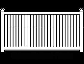 Vinyl PVC Semi-Private Fence Style