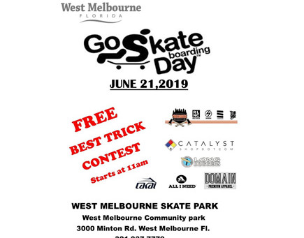 Go Skate Day 2019 at West Melbourne Skatepark