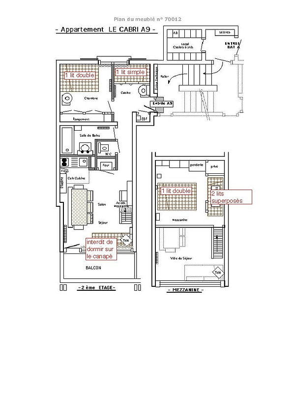 plan appartement le cabri A9 les saisies