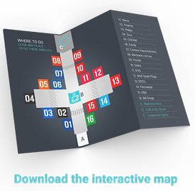 Interactive wayfinder map