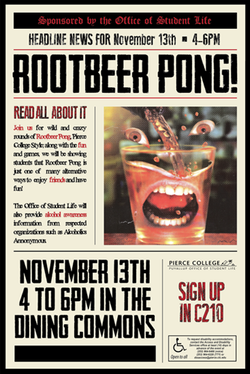 Root Beer Pong Poster