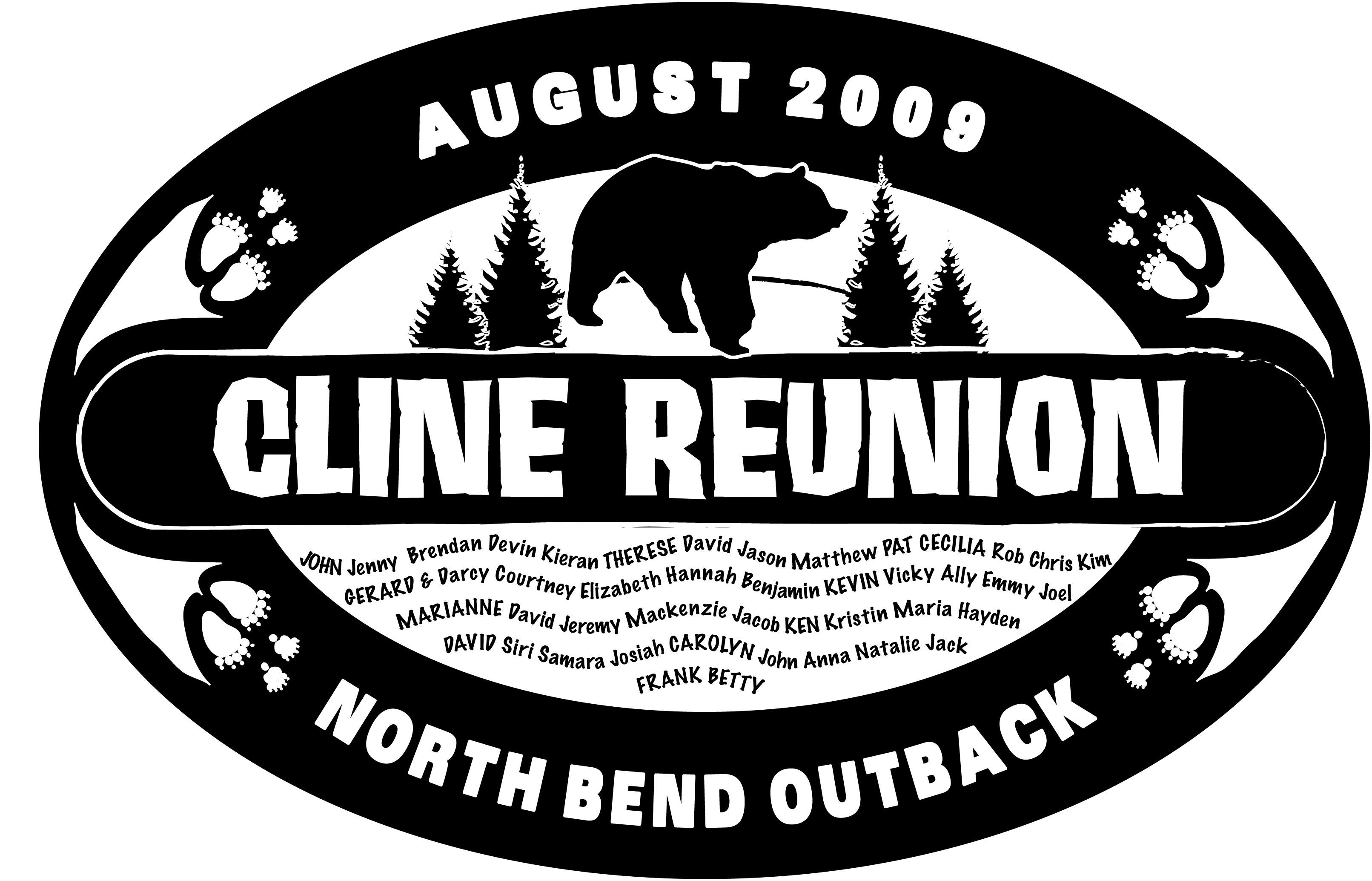 Cline Reunion Tshirt Logo