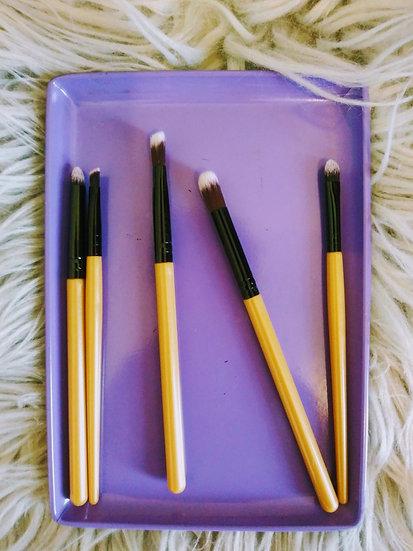 Gold and Black Make-up Brush Set