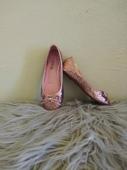 Pink Glittery Flats