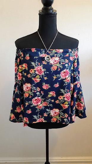 Love J Off The Shoulder Floral Blouse