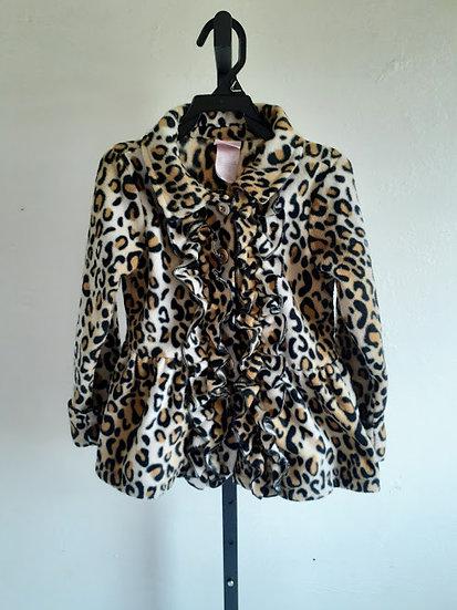 Nannette Girl Leopard Print Coat
