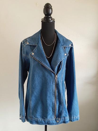 Women's GOLD FLAVA Blue Jean Jacket