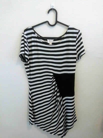 EC New York Long Asymmetric Stripe Shirt