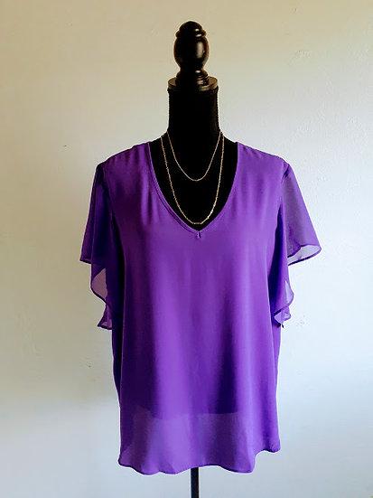 Purple Sheer Blouse