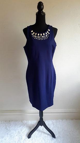 H&M Sleeveless Bodycon Beaded Neckline Dress