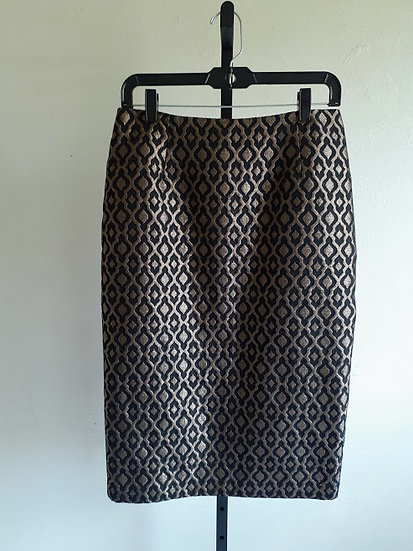 Worthington Gold and Black Pencil Skirt
